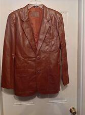 BERTINI men's all seasons leather coat jacket size 38 Very nice! EUC!