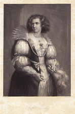 """Portrait """"Gräfin Terzky""""StSt. von C.Geyer n. Fr.Pecht-1858"""