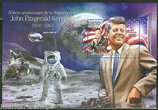 CENTRAL AFRICA  50th MEMORIAL ANNIVERSARY JOHN F. KENNEDY S/S  NEIL ARMSTRONG
