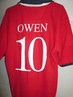England 1999-2001 Owen 10 Away Football Shirt Size Youth 34""