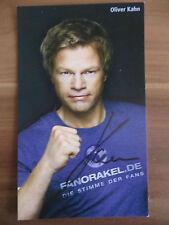 Handsignierte AK Autogrammkarte OLIVER KAHN Deutscher Sportmoderator WM 2014 #2
