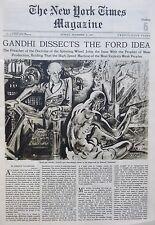 11-1931 November 8 GANDHI FORD - A A MILNE FOLK - ART THAMES BRANDEIS NY Times