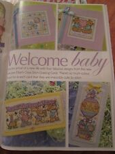 'Welcome Baby' Joan Elliott cross stitch chart(only)