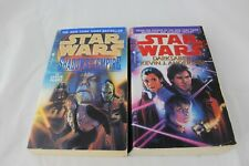 Vtg Star Wars Shadows of the Empire & Darksaber Paperback Book Lot Bantam