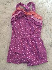 Gymboree Purple Polka Dot Romper -Summer 18/24 Bubble Infant Adjust Straps