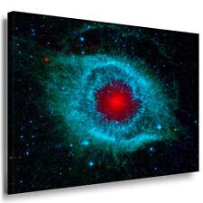 Galaxie Blau Rot Explosion Abstrakt Leinwandbild AK Art Bilder Mehrfarbig XXL