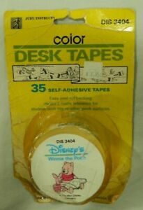 Judy Instructo Color Desk Tapes Disney Winnie the Pooh New vintage