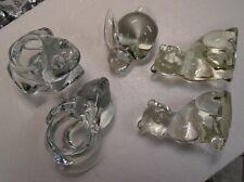 Glass Figurines 2 Cats 2 Bunnies 1 Frog set of 5