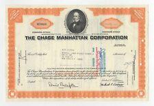 Chase Manhattan Corporation Stock Certificate