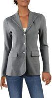 Lauren Ralph Lauren Womens Ayelee Gray Heathered Jacket Blazer Petite L NWT