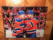 Connor Mcdavid and Taylor Hall Dual Autographed Auto Signed 11x14 Photo Oilers
