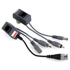 2 Coax CCTV video Audio Power Balun Transceiver CAT5 cable BNC RJ45 camera LW