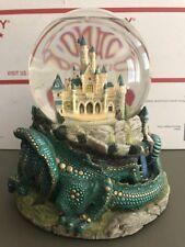 Disney Musical Snow Globe Once Upon A Dream Castle Dragon Sleeping Beauty