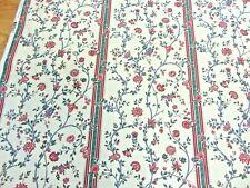Discontinued Waverly Centennial 'Westbury Stripe 100% Cotton Fabric By the Yard
