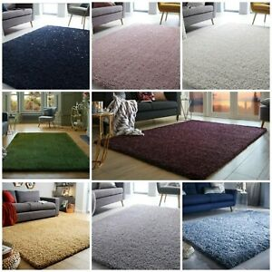HIGH QUALITY THICK SPARKLE VELOCE MAT SHAGGY SMALL TO X LARGE RUG GLITTER CARPET