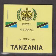 1981 Royal Wedding Charles & Diana MNH Stamp Booklet Tanzania Inverted Panes