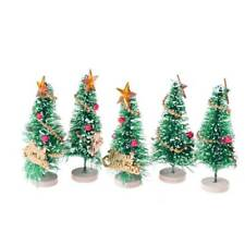 Mini Christmas Snow Tree Small Pine Tree Table Office Home Decoration Gift