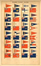 YACHT CLUB FLAG/BURGEES.Royal Danish Canadian Netherlands Sydney NYYC et al 1873