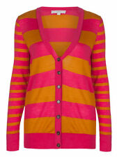 Hip Length Wool Blend Striped Jumpers & Cardigans for Women