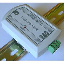 KMTronic USB One Relay Controller, RS232 Serieel gestuurd, BOX, DIN rail