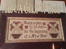 RAISE A GLASS OF CHEER BLACKBIRD DESIGNS CROSS STITCH SAMPLER CHART