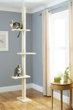 Floor To Ceiling Cat Tree Climbing Platform Sisal Scratching Pole Feline Pet