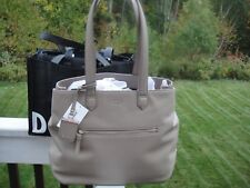 New DKNY Heavy Nappa LeatherTaupe Large Tote/Shoulder Bag.$350.00.100%Authentic