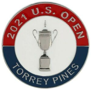 2021 US Open (TORREY PINES) -FLAT- Large TWO SIDED Logo Golf BALL MARKER