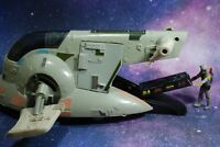VINTAGE Star Wars COMPLETE SLAVE 1 + BOBA FETT ACTION FIGURE KENNER one