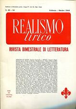 REALISMO LIRICO FEBB. OTT. 1969 = Caramella Capasso Borzini Cavassa
