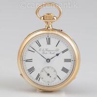 Hochfeines Ankerchronometer G.A. Huguenin & Fils Schweizer Jura 1885 18k Gold