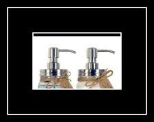 NEW! Mason Jar Lotion & Soap Brushed Silver Dispenser Pump & Lid