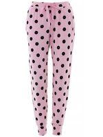 PJ Couture Women's Pink Black Dots Pajamas Pants