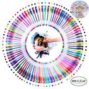 Pens Gelschreiber Gelstifte Metallic Glitter Gelmalstifte Malstifte 100PCS