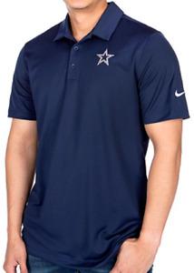 New Nike Dallas Cowboys NFL Football Dri-Fit polo golf shirt men's Small S navy