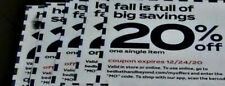 Coupons~Bed Bath & Beyond~Bbb~(12) 20% off 1 item~in store/online~some expired