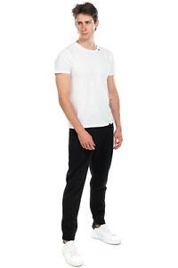 RRP €155 EMPORIO ARMANI Sweat Trousers Size L Patterned Pocket Drawstring Waist