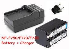 4400mAh NP-F750 Battery + Charger For Yongnuo Led YN-300 III II YN-600 CN160 216