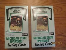 Lot of Two Michigan State Spartans Trading Card Box by Collegiate Collection