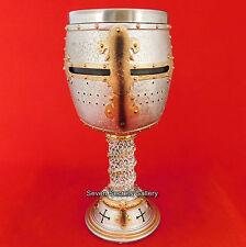 Crusader Knight Goblet Medieval Ornament Knights Templar Drinking Cup NEW IN