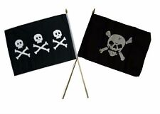 "12x18 12""x18"" Wholesale Combo Pirate Chris Condent & Crossbones Skull Stick Flag"