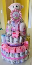 Baby Girl, Baby Boy Diaper Cakes
