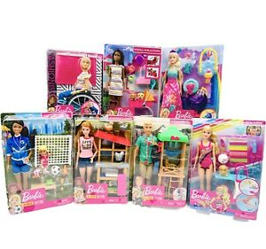 Barbies Lot Of 7 You Can Be Anything Fashionistas Ken Collector Dolls Rare NEW
