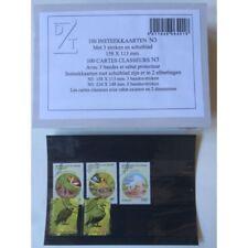 Paquet de 100 cartes noires pour classement timbres 3 bandes