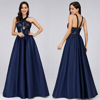 Ever-Pretty US Long Halter Neck Evening Party Dress Homecoming Holiday Prom Gown