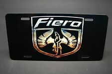 FIERO LICENSE PLATE TAG FOR CARS METAL ALUMINUM PONTIAC FIERO