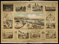 Rare 1853ca - Les bienfaiteurs de l'humanité - Planche encyclopédique, scolaire