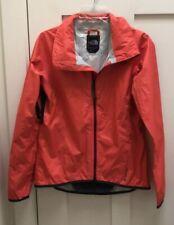 EUC Women The North Face Orange Rain Windbreaker Jacket Coat Size S