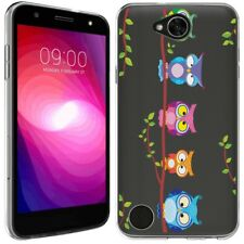 for LG X Charge 2 (Owls on a branch)Clear TPU gel skin phone case cover