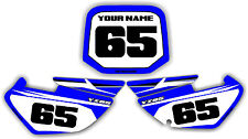 02-12 Yz85 Number Plate Backgrounds Graphics Decals Stickers MX Plastic Yz 85
